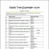 picture regarding Family Reunion Scavenger Hunt Printable identified as Education Youngsters Genealogy Competencies Blog site Connection Up January